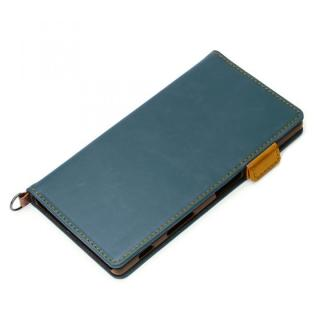 Premium Style PUレザー手帳型ケース ブルー Xperia Z5
