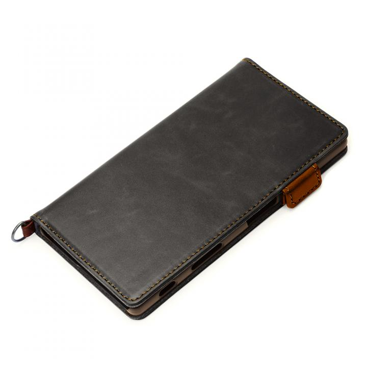 Premium Style PUレザー手帳型ケース ブラック Xperia Z5