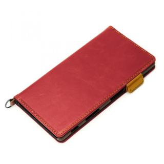 Premium Style PUレザー手帳型ケース ワインレッド Xperia Z5