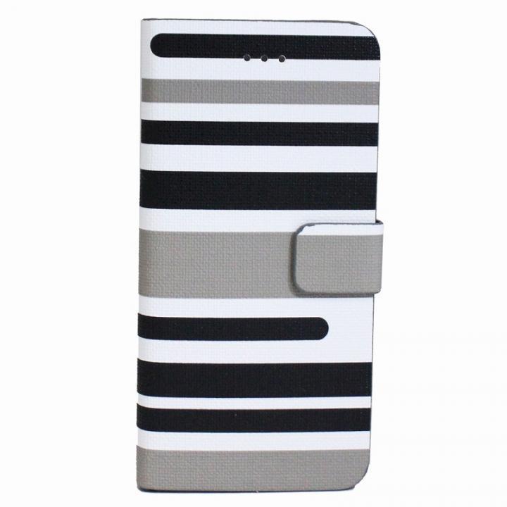 iPhone6s Plus/6 Plus ケース ボーダー手帳型レザーケース グレー iPhone 6s Plus/6 Plusケース_0