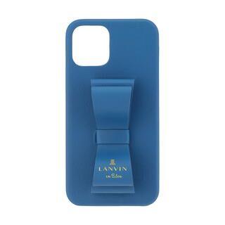 iPhone 12 / iPhone 12 Pro (6.1インチ) ケース LANVIN en Bleu Slim Wrap Case Stand & Ring Ribbon Navy iPhone 12/12 Pro【11月中旬】
