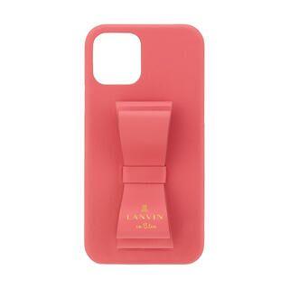 iPhone 11 ケース LANVIN en Bleu Slim Wrap Case Stand & Ring Ribbon Coral Pink iPhone 11【11月中旬】