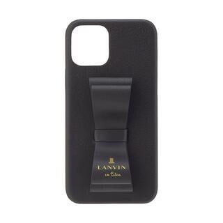 iPhone 11 Pro ケース LANVIN en Bleu Slim Wrap Case Stand & Ring Ribbon Black iPhone 11 Pro【11月中旬】