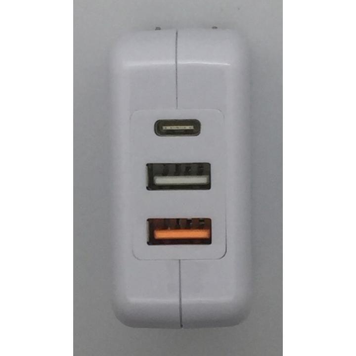 4.8A出力 Type-C & USB  ポ-ト 3ポートハイパワ-AC QC3.0対応_0