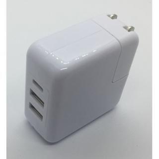 4.8A出力 Type-C & USB  ポ-ト 3ポートハイパワ-AC