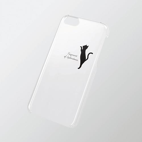 iPhone 5c用 シェルカバー(アップルテクスチャ) ネコ_0