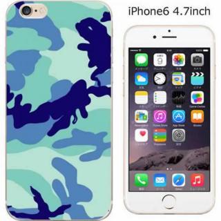 コーディネートカラーハードケース iglno iglno. 迷彩 ブルー iPhone 6ケース