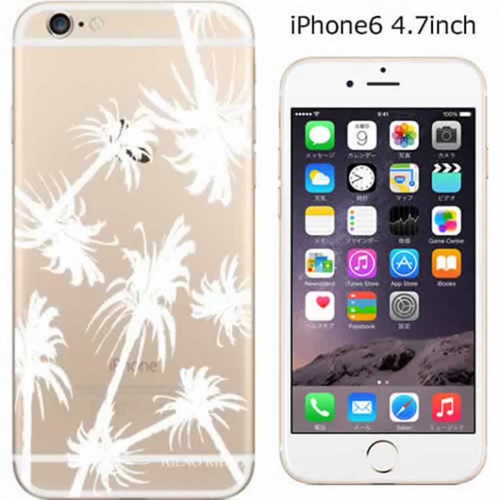 コーディネートカラーハードケース iglno iglno. ヤシの木 クリア/ホワイト iPhone 6ケース