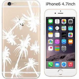 【iPhone6ケース】コーディネートカラーハードケース iglno iglno. ヤシの木 クリア/ホワイト iPhone 6ケース