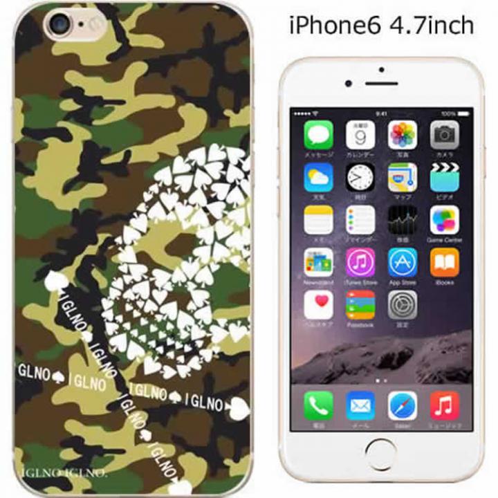 iPhone6 ケース ハードケース iglno iglno. スカル迷彩 グリーン/ホワイト iPhone 6ケース_0