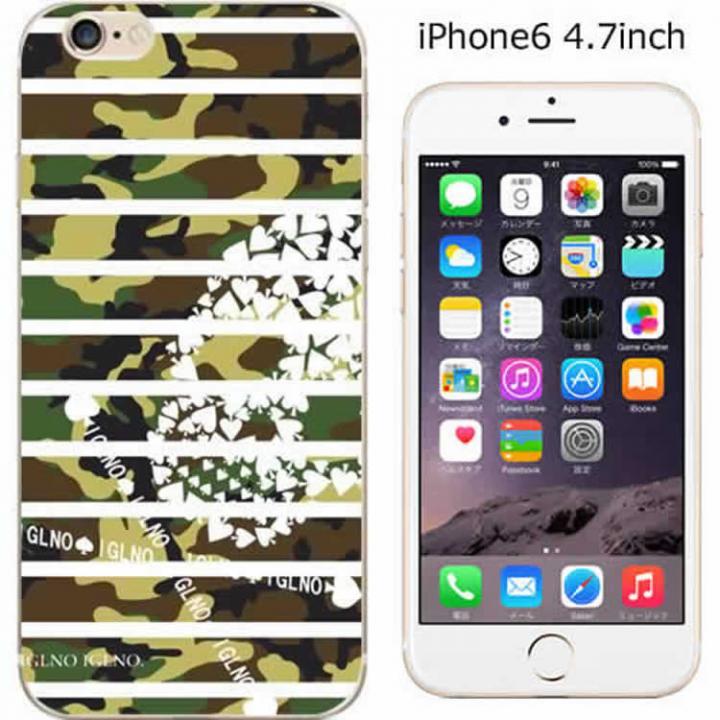 【iPhone6ケース】ハードケース iglno iglno. スカルボーダー迷彩 グリーン/ホワイト iPhone 6ケース_0