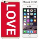 ハードケース iglno iglno. ボックスプリント(LOVE)/レッド iPhone 6ケース