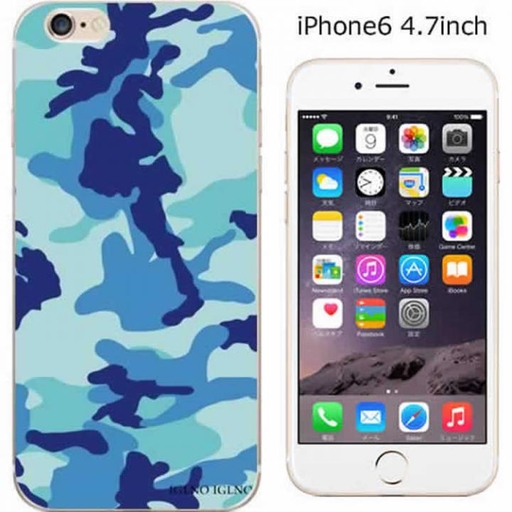 【iPhone6ケース】コーディネートカラーハードケース iglno iglno. カモフラージュ/ブルー iPhone 6ケース_0