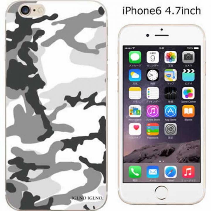 【iPhone6ケース】コーディネートカラーハードケース iglno iglno. カモフラージュ/ホワイト iPhone 6ケース_0