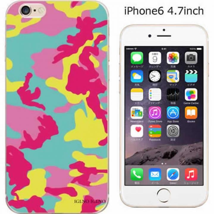 【iPhone6ケース】ハードケース iglno iglno. カモフラージュ/ブルー*レッド iPhone 6ケース_0