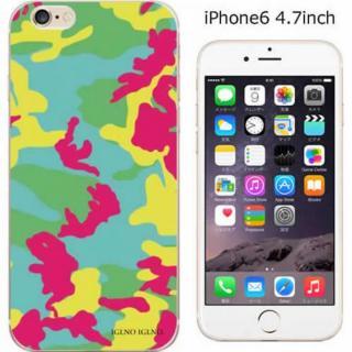 iPhone6 ケース ハードケース iglno iglno. カモフラージュ/グリーン*レッド iPhone 6ケース