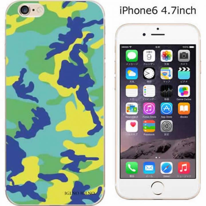 【iPhone6ケース】ハードケース iglno iglno. カモフラージュ/グリーン*ブルー iPhone 6ケース_0