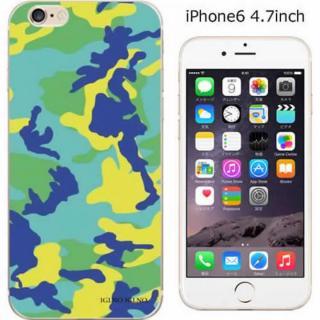 ハードケース iglno iglno. カモフラージュ/グリーン*ブルー iPhone 6ケース