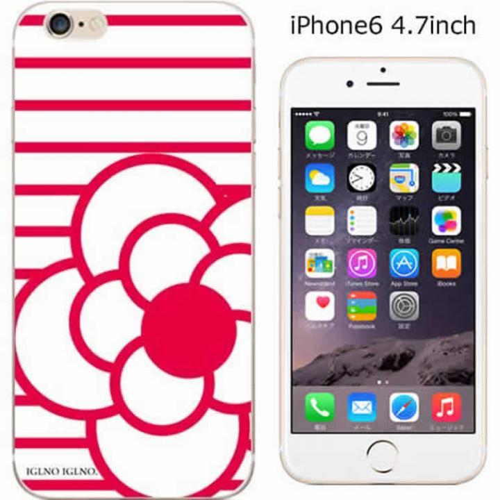 iPhone6 ケース コーディネートカラーハードケース iglno iglno. ツバキ ホワイト/レッド iPhone 6ケース_0