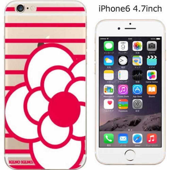 コーディネートカラーハードケース iglno iglno. ツバキ クリア/レッド iPhone 6ケース