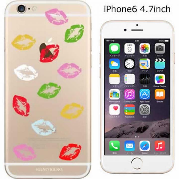 【iPhone6ケース】コーディネートカラーハードケース iglno iglno. 唇マーク カラフル iPhone 6ケース_0