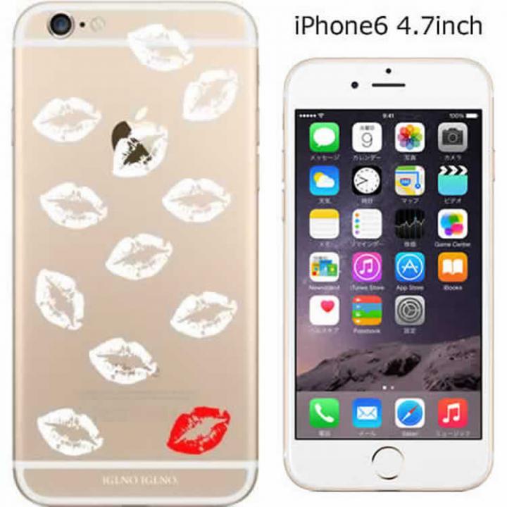 iPhone6 ケース コーディネートカラーハードケース iglno iglno. 唇マーク ホワイト iPhone 6ケース_0