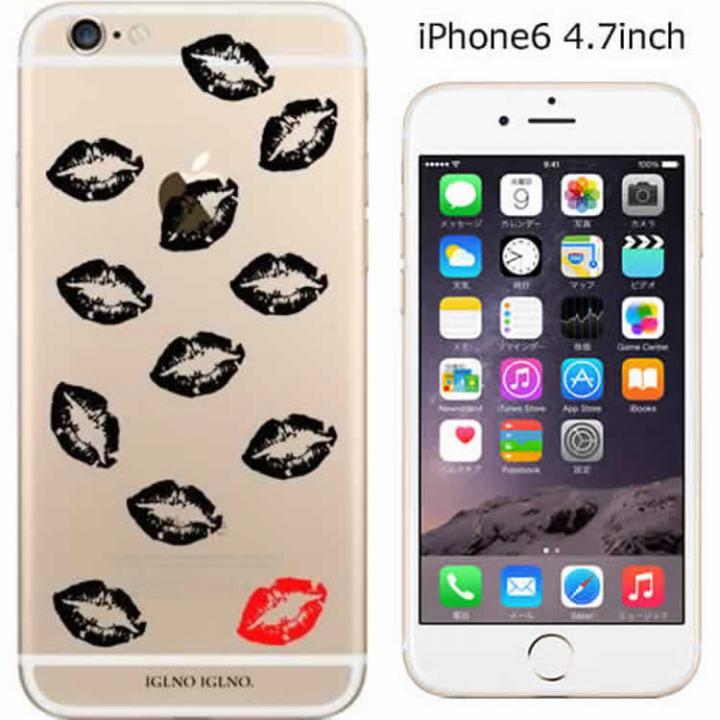 コーディネートカラーハードケース iglno iglno. 唇マーク クリア iPhone 6ケース