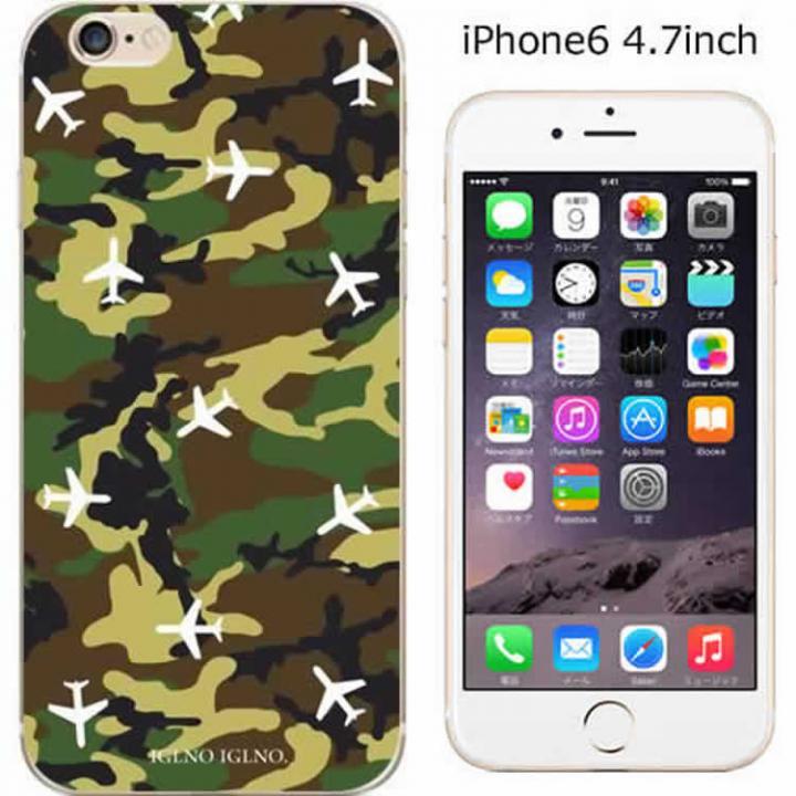 iPhone6 ケース ハードケース iglno iglno. Airplane カモフラージュ iPhone 6ケース_0
