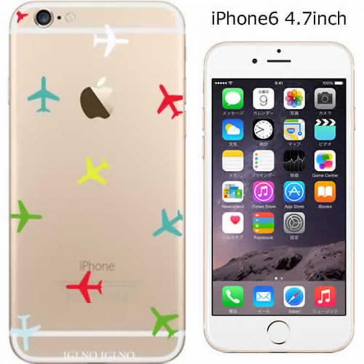 【iPhone6ケース】コーディネートカラーハードケース iglno iglno. Airplane カラフル iPhone 6ケース_0