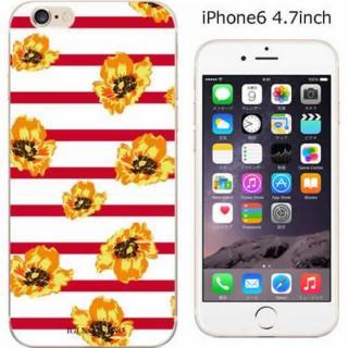 コーディネートカラーハードケース iglno iglno. フラワー ボーダー(レッド) iPhone 6ケース