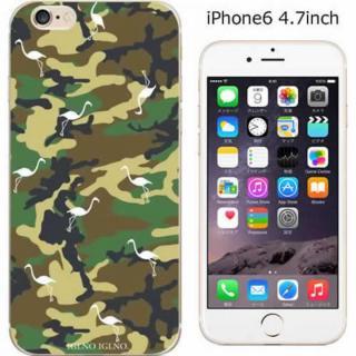 コーディネートカラーハードケース iglno iglno. フラミンゴ カモフラージュ iPhone 6ケース