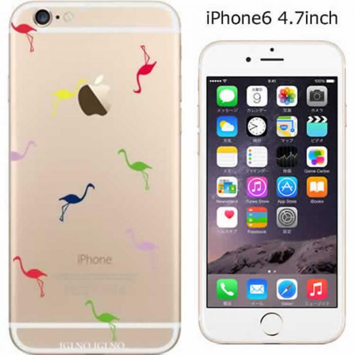 コーディネートカラーハードケース iglno iglno. フラミンゴ カラフル iPhone 6ケース
