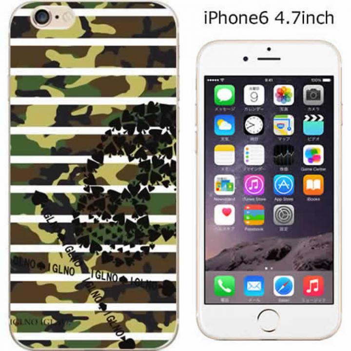 iPhone6 ケース ハードケース iglno iglno. スカルボーダー迷彩 グリーン/ブラック iPhone 6ケース_0