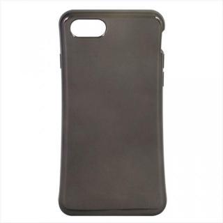 iPhone7 ケース 衝撃吸収TPUケース メタリック ブラック iPhone 7