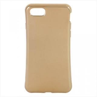 iPhone7 ケース 衝撃吸収TPUケース メタリック ゴールド iPhone 7