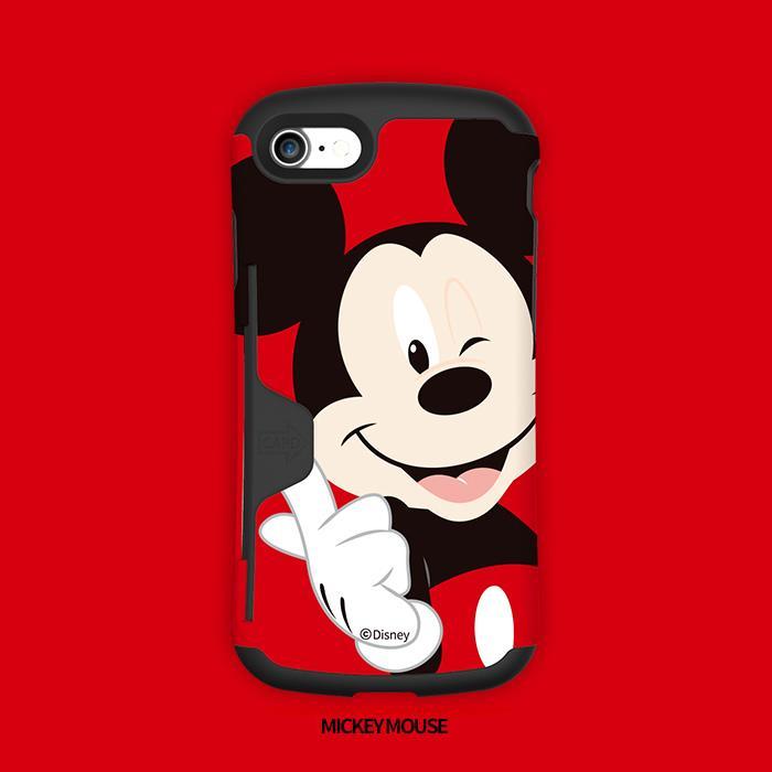 PhoneFoam Golf Original ディズニー カードスロット搭載ハードケース ミッキーマウス iPhone 8/7