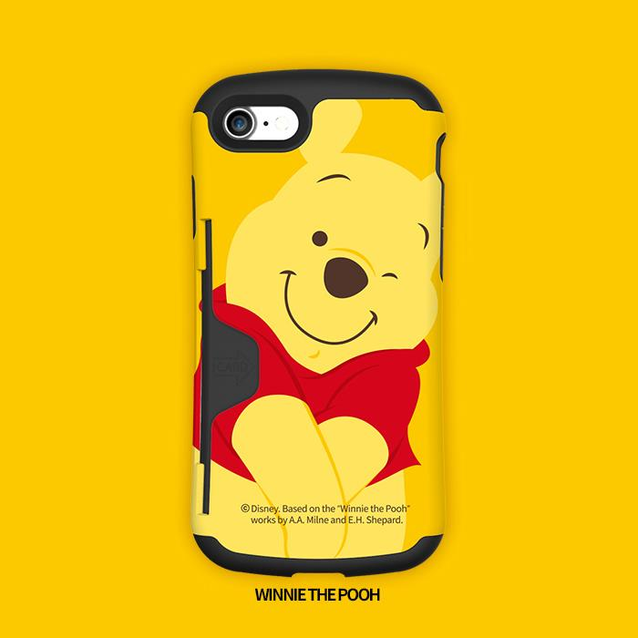 PhoneFoam Golf Original ディズニー カードスロット搭載ハードケース  くまのプーさん iPhone 7