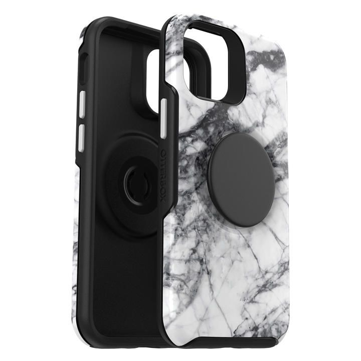 OtterBox Otter + Pop Symmetry Graphics Series WHITE MARBLE iPhone 12 mini_0