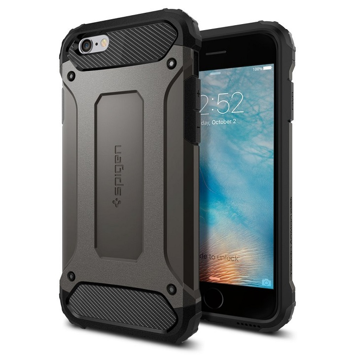 Spigen タフ・アーマー テック ガンメタル iPhone 6s