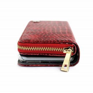 【iPhone6ケース】お財布付き手帳型ケース Zipper クロコエナメル レッド iPhone 6ケース_5