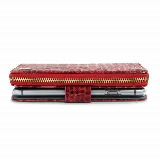 【iPhone6ケース】お財布付き手帳型ケース Zipper クロコエナメル レッド iPhone 6ケース_6