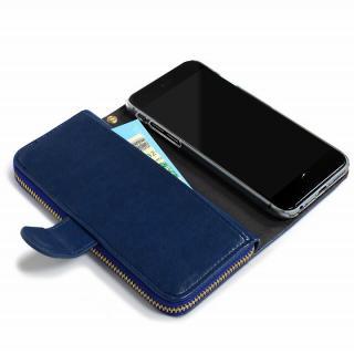【iPhone6s/6ケース】お財布付き手帳型ケース Zipper ネイビー iPhone 6s/6ケース_4