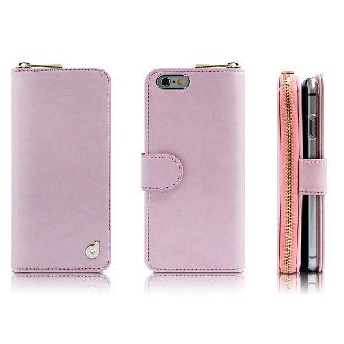 【iPhone6s/6ケース】お財布付き手帳型ケース Zipper ピンク iPhone 6s/6ケース_0
