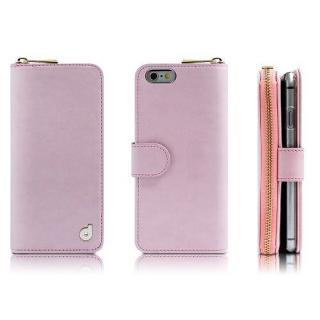 お財布付き手帳型ケース Zipper ピンク iPhone 6s/6ケース