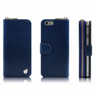 お財布付き手帳型ケース Zipper ネイビー iPhone 6s Plus/6 Plusケース