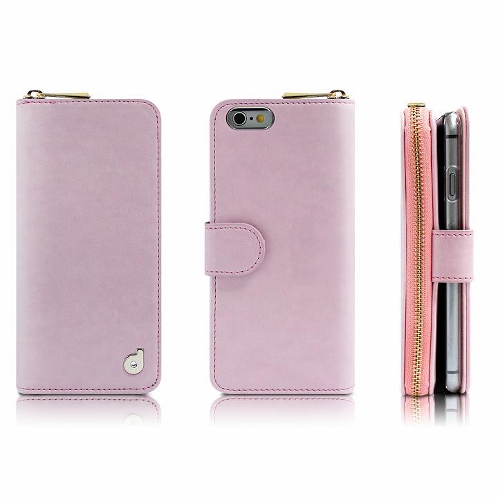 お財布付き手帳型ケース Zipper ピンク iPhone 6s Plus/6 Plusケース