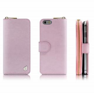 お財布付き手帳型ケース Zipper ピンク iPhone 6 Plus