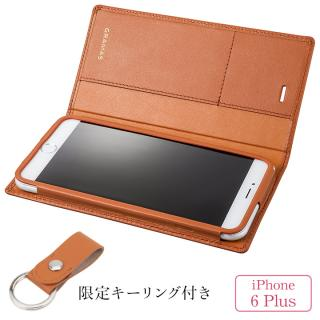 iPhone6s Plus/6 Plus ケース [期間限定]GRAMAS フルレザー手帳型ケース レザーキーリング付き タン iPhone 6s Plus/6 Plus