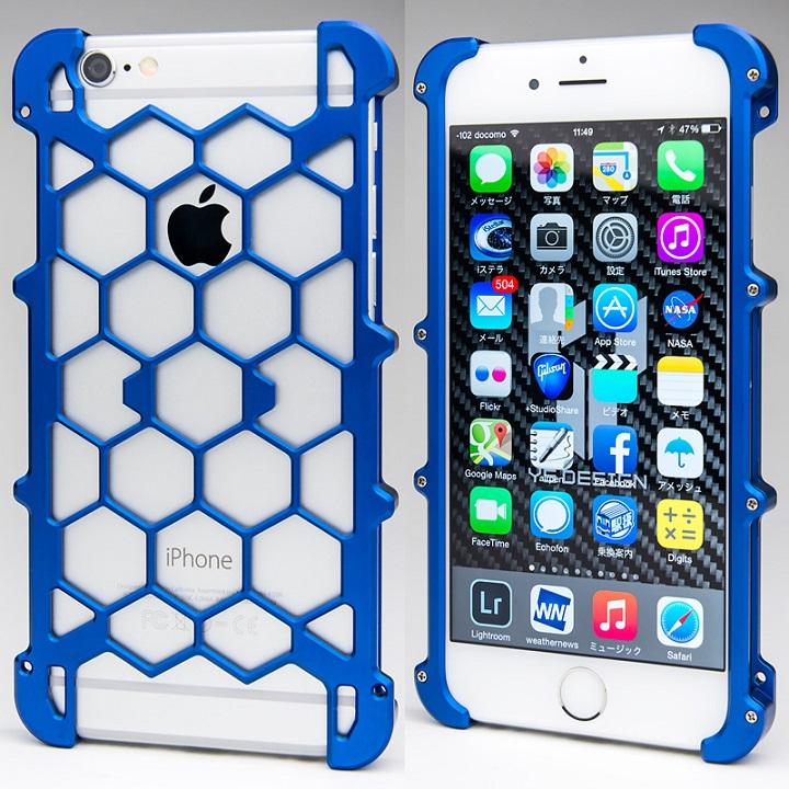 iPhone6s/6 ケース アルミ削り出し プロテクターケース ブルー iPhone 6s/6_0
