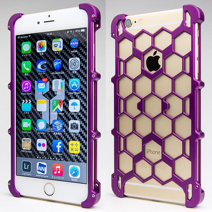 【iPhone6s Plus/6 Plusケース】アルミ削り出し プロテクターケース パープル iPhone 6s Plus/6 Plus_0